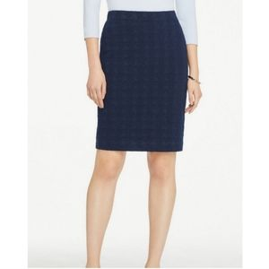 Ann Taylor Jersey Houndstooth Pencil Skirt